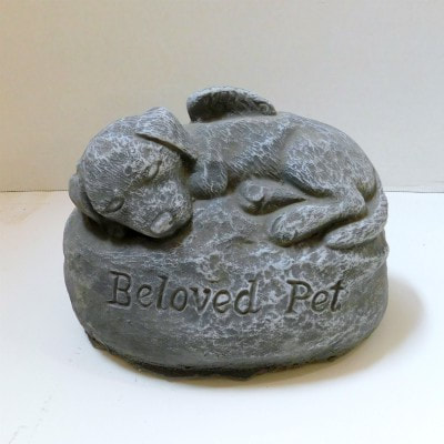Anchor Floral Garden and Gravesite Memorial Stones Sleeping Angel Dog Statue