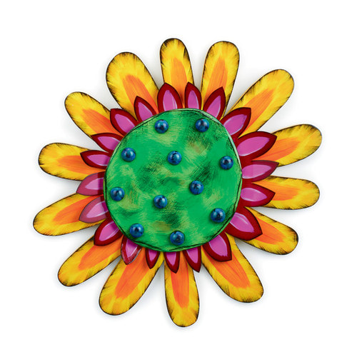 Demdaco Tra La La Bright Flower Power Wall Art made with Metal and Wood SALE price $34.95