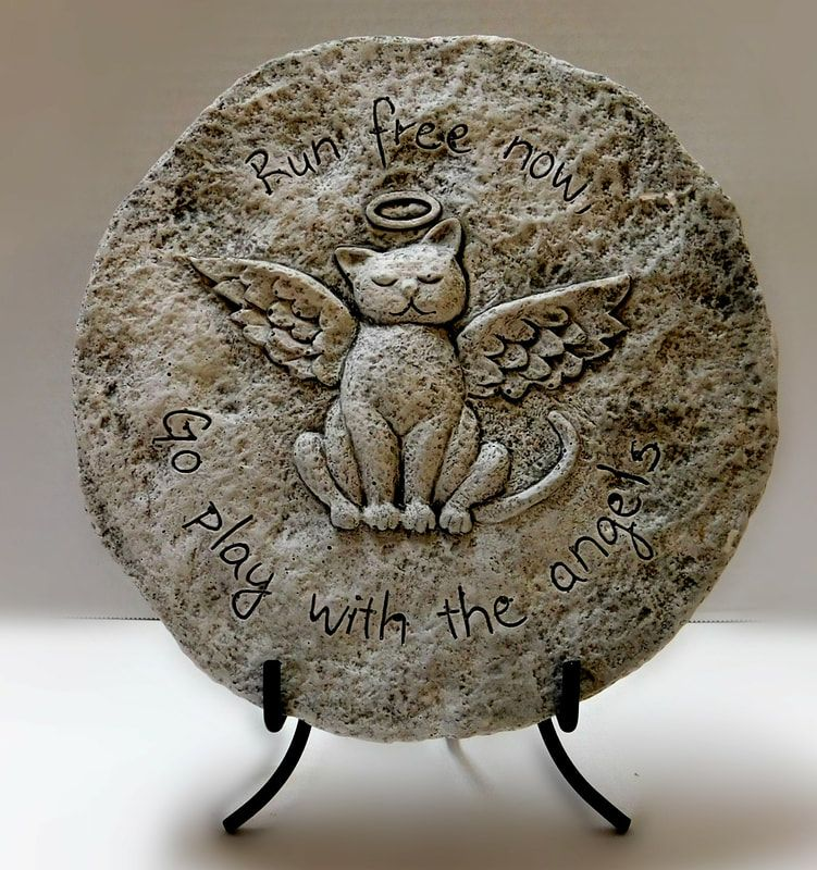 Anchor Floral Garden and Gravesite Memorials Stepping Stone Angel Cat $19.95