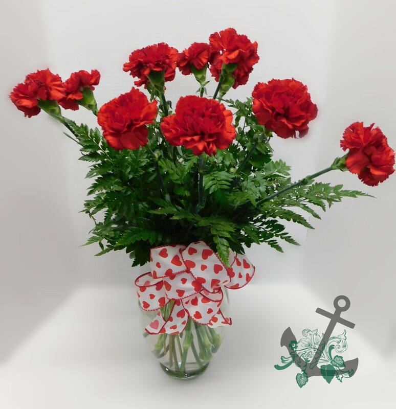 LOVE-106 $29.95 ONE DOZEN CARNATIONS